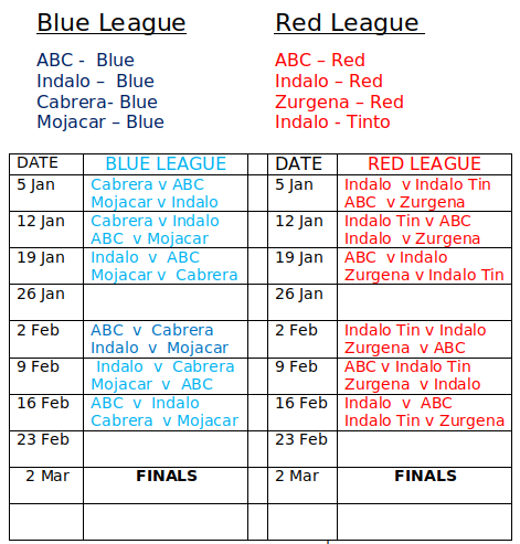 11 aside schedule
